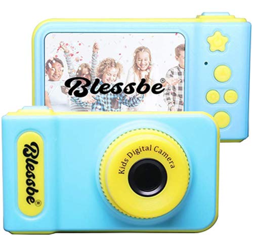 BLESSBE Kids Digital Camera, 2 Inch 1080 HD Screen Mini Child Camera(Blue) - BB25…