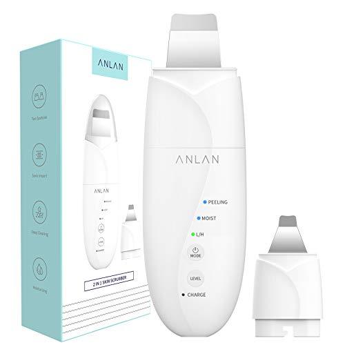 ANLAN 2in1 ウォーターピーリング 超音波 ダブルピーリングヘッド 美顔器 ピーリング スマートピール イオ...