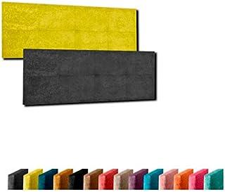 Cabecero de Cama Modelo LÉRIDA tapizado en Tela Nido Aqualine Antimanchas. Altura 50 cm. Color Chocolate. para Cama de 135 (Medidas 145x50x5) Pro Elite.