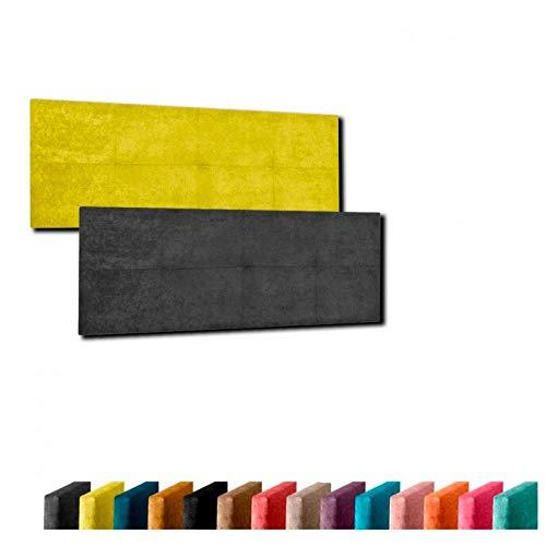 Cabecero de Cama Modelo LÉRIDA tapizado en Tela Nido Aqualine Antimanchas. Altura 50 cm. Color Naranja. para Cama de 80 (Medidas 90x50x5) Pro Elite.