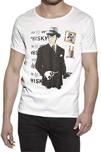 maglia lupin Lupin Ganster 2107 Urban Slub Men Uomo Cotone 100% MOD.TSUASLB (S/M - Cm 54 - Cm 72