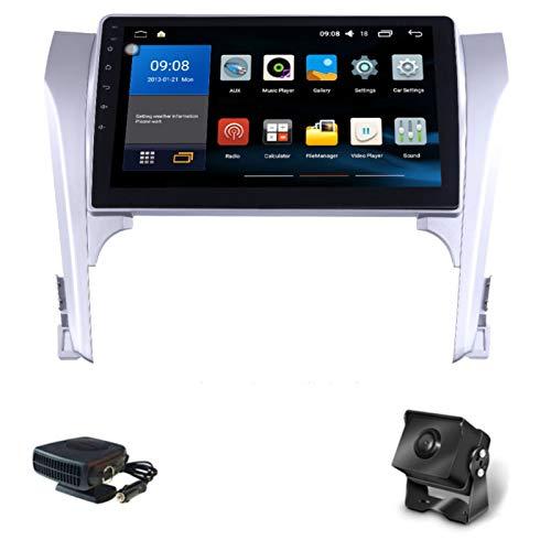 XMZWD Android 8.1 Car Radio Radio 9 Zol Navegación GPS para Toyota Camry 2012-2017 Control De Gestos Ultra Preamplificador Reproductor Pantalla Táctil GPS Control del Volante USB FM Am