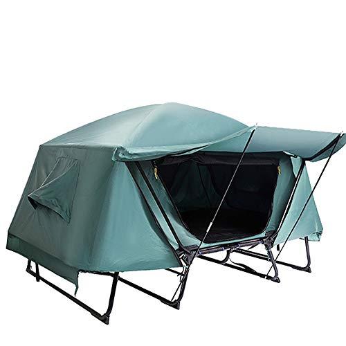 Tienda de campaña de invierno caliente Camping al aire libre Carpa Cuna retráctil fuera del suelo Carpa impermeable a prueba de viento de doble capa for la pesca que acampa Pesca Refugio de hielo port