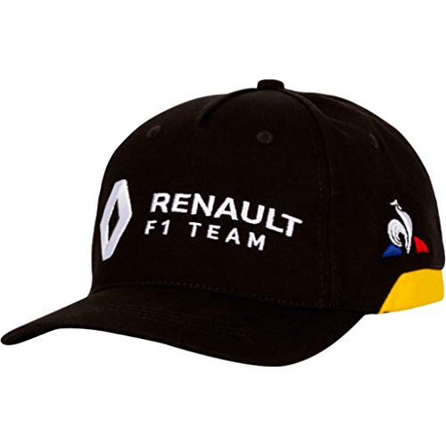 Le Coq Sportif Renault Cap Black/Amber Yellow Gorra, Unisex Adulto, Talla Única