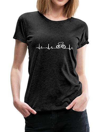 Rennrad EKG Fahrrad Rennradfahrer Bike Frauen Premium T-Shirt, XXL, Anthrazit