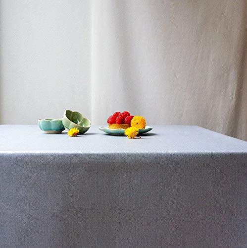 Fleur de soleil ~ Nappe Unis Gris Coton Enduit 160x300