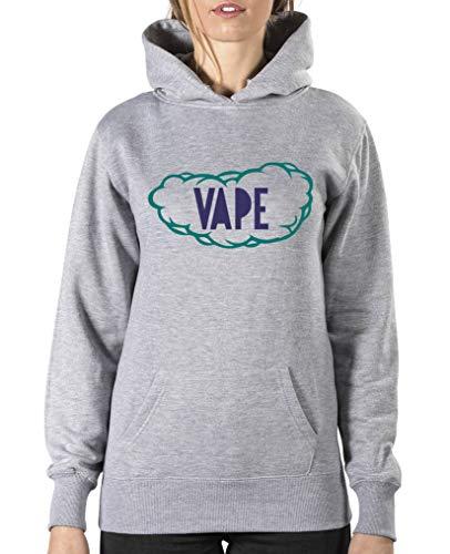 Comedy Shirts Vape Wolke Sweat-shirt à capuche pour femme - Gris - XL