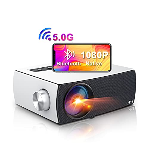 Proyector WiFi Bluetooth 8000 Lúmenes, Artlii Enjoy3 Proyector 1080P Nativo Full HD, Soporta Dolby AC3, 2.4G/5G WiFi, para Smartphone Android/ iOS/PS5