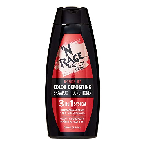 N Rage Color Depositing Shampoo + Conditioner 3 in 1 System (N-Tense Red)