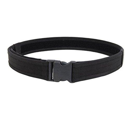 Gosear® Sport extérieur Nylon Militaire Tactique porteuse Cambat Devoir Web Taille Ceinture Noire