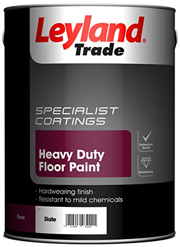 Leyland Trade 264619 Heavy Duty Floor Paint, Slate, 5 Litre