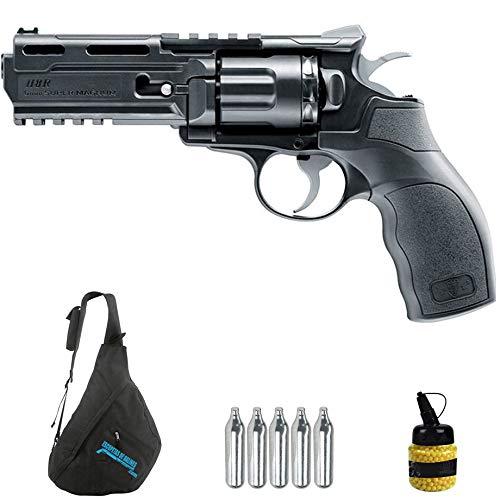 Revólver Umarex Elite Force H8R CO2 (6mm) | Arma Corta de Airsoft (Bolas de plástico) + Mochila + biberón