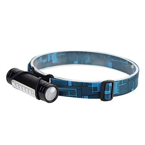 Linterna frontal LED con 6 ledes, 3000 lúmenes, 3 modos de luz, recargable, batería externa, pesca, caza