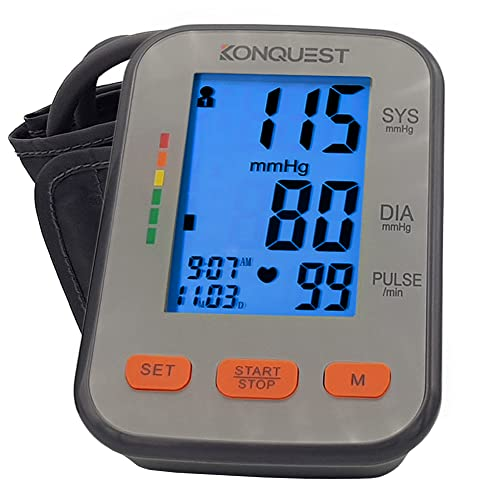 Konquest KBP-2704A Automatic Upper Arm Blood Pressure Monitor - Adjustable Cuff...