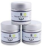 Premium Bio Matcha aus Japan, Ceremonial Grade, Pestizidfrei, Tee Pulver extrafein in der 30 g Dose, mild intensive Grünteenote, geeignet für Matcha Latte, Smoothie, Zeremonielle Qualität, Grüntee