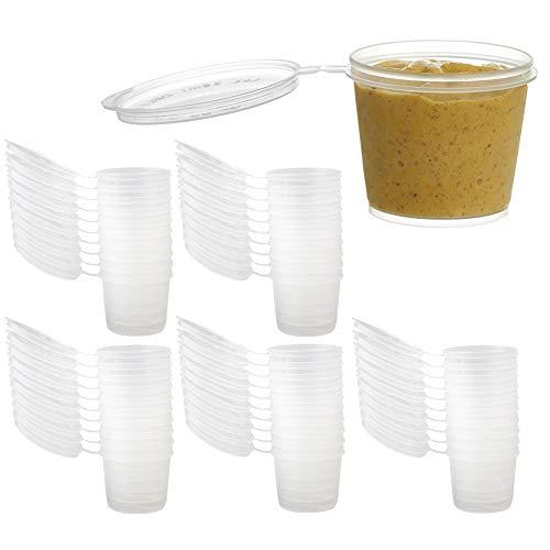 INTVN Slime Contenitore 50 Pezzi Contenitore di Plastica Rotondo Slime - 40 g (50 Pezzi)