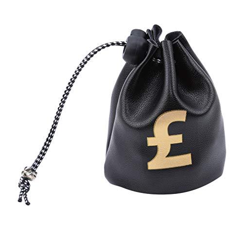 #N/A Ristiege Dollar Euro Libra Signo Recompensa Dinero Bolsa Retro Bucket Tote Bag Monedero Llavero, Libra Negra