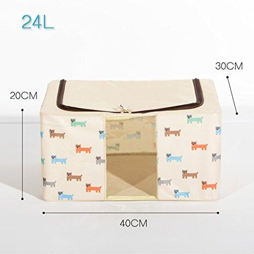 Boîte de rangement en acier de grande taille Boîte de rangement Oxford en tissu d'habillement peut être plié pour recevoir Boîte de fer Me (couleur : N ° 6)