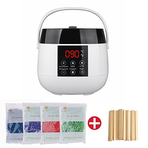 Sinbide® Wachsgerät Set Wachswärmer Wachs Erhitzer+ Wachs Bohnen Haarentfernung Wax Salon (Wachswärmer+Wachs Bohnen)