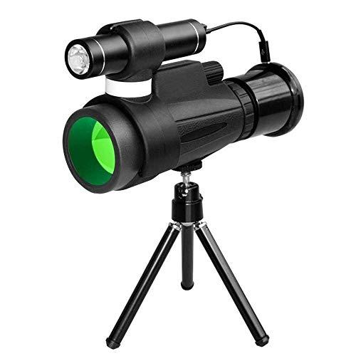 Binoculars Entry-Level-Teleskop, Schwarzes Nachtsichtgerät Teleskope, Nachtsicht Infrarot-Nachtsichtgerät 12-Port-Dual-Sized Scope monokulare jszzz