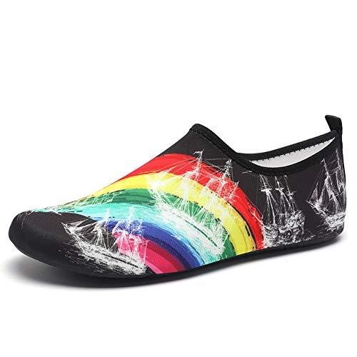LeftSuper Zapatillas Deportivas Zapatos Moda Aguamarina para Hombres, Mujeres, Padres e Hijos, Descalzos, Zapatos de Playa, Deportes Ligeros, Buceo, Playa, Zapatos de Surf