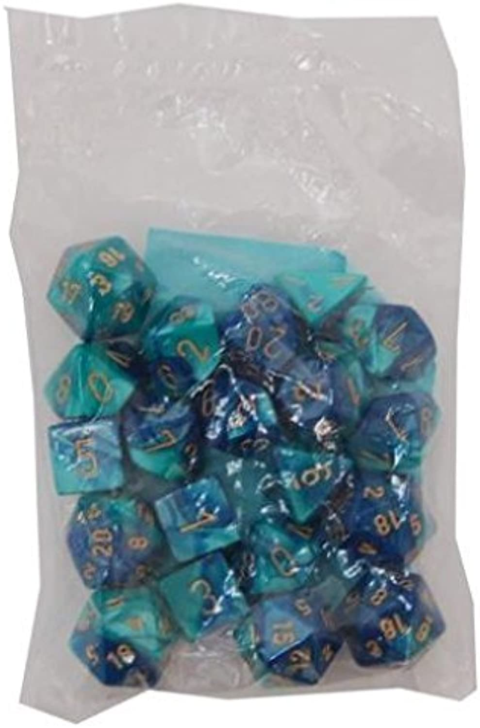 Poly Set bluee & Teal w gold (20)