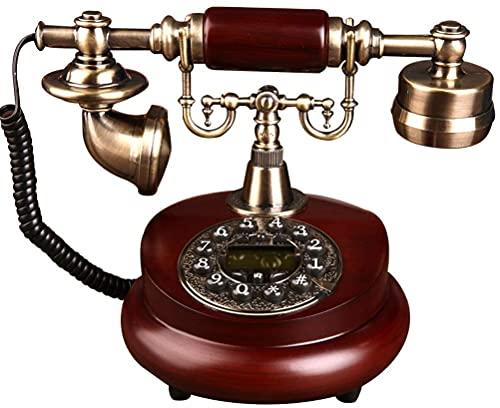 Telefono Decor Modello Casa Scrivania Decorazione Classico Europeo Retrò fisso Antico Telefono Casa - Telefono a Pulsante - Telefono Retro Decorativo - Telefono fisso Casa e Ufficio Telefono