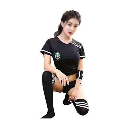 BERYLSHOP Sexy Frauen-Unterwäsche japanische Studenten tragen Sailor Uniform Football Baby DS anzeigen Kostüm (Size : M)