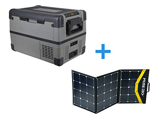 Prime Tech Kompressor-Kühlbox 28 Liter bis -20°C, 12/24 Volt 120WP Solar-Bundle