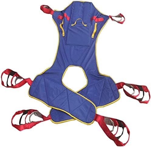 Eslinga de malla de cuerpo completo para elevación de paciente con apertura de cómoda, elevación de paciente sentada para levantarse de pie, cinturón de transferencia Bear 500 libras ⭐