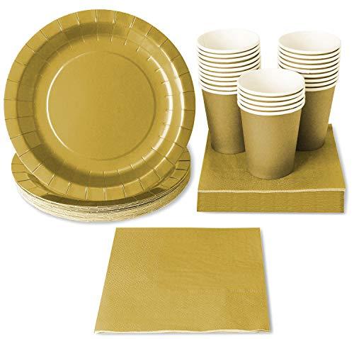 Forniture per feste, piatti di carta, tazze e tovaglioli (24, 72 pezzi)