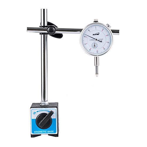 Indicador de prueba de cuadrante Indicador DTI 0-10 mm con base magnética...