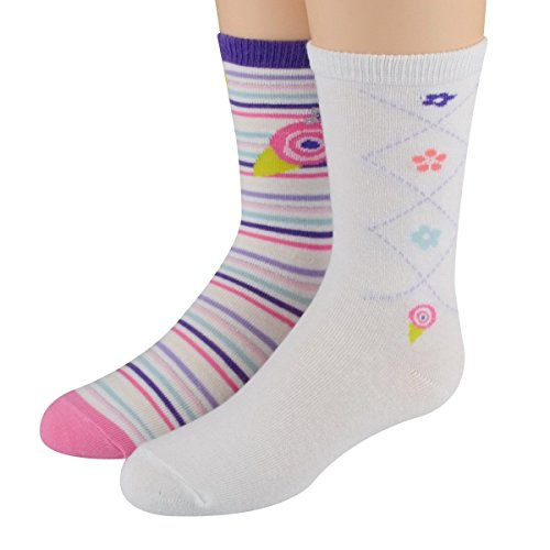 Lola Floral & Stripe Crew Asst. 4pairs - XS (5-6.5) shoe size 3-7