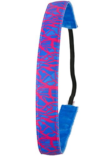 Ivybands Anti-Rutsch Haarband Special, Neon Blau/Pink, One size