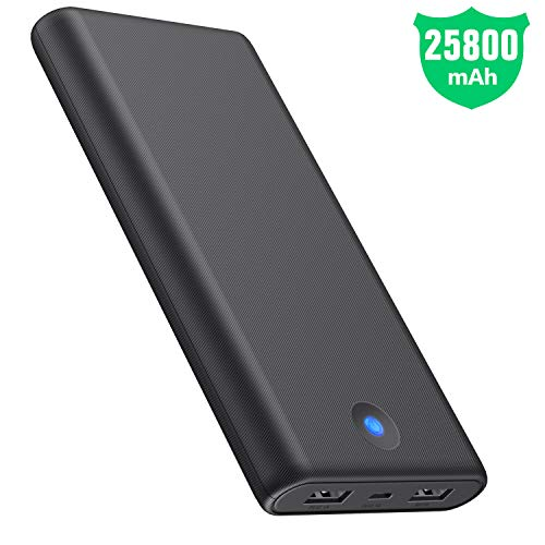 Portable Charger Power Bank 25800mah Newest Enhanced Portable Phone Charger Dual Output with LED Colorful Indicator Charging External Battery Packs Charger for Smartphone, Android,Tablet and More