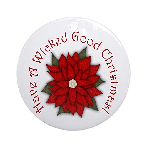 EaYanery A Wicked Good Christmas! Ornament (Round) Round Holiday Christmas Ornament Xmas Gifts Christmas Tree Ornaments Ideas 2019