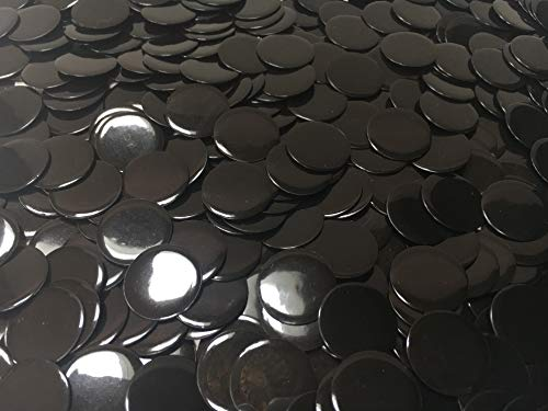 Fantastic Deal! Plastic Bingo Chips 10000 Count | Solid Black Counting Chips | 3/4 Inch