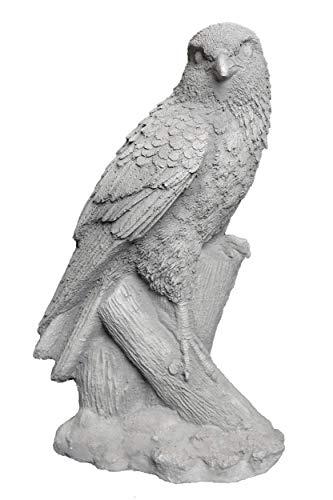 gartendekoparadies.de Massive Steinfigur Falke Wanderfalke Vogel aus Steinguss frostfest