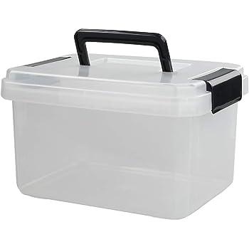Eudokky 7 Litros Juego de 3 Cajas Organizadoras de Plástico, Cajas de Plástico Transparente: Amazon.es: Bricolaje y herramientas
