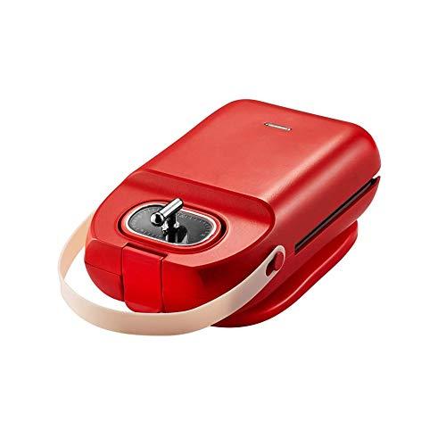 MYXMY Sandwich-Maschine Frühstück Maschine Hauptlicht Lebensmittel-Maschine Waffle Brot-Maschine Multifunktions Kleiner Toast Druck Backautomaten (Color : Red)