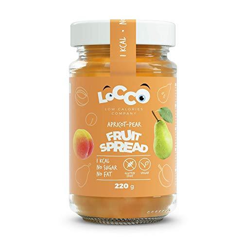 LOCCO, marmellata di albicocche e pere senza zuccheri, basso contenuto calorico