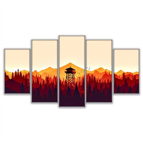 Modern For Painting Pictures Wall 5 Pcs Game Art For Living Room Home Decor Canvas Prints 30x50cmx2 30x70cmx2 30x90cmx1 Unframed wall art
