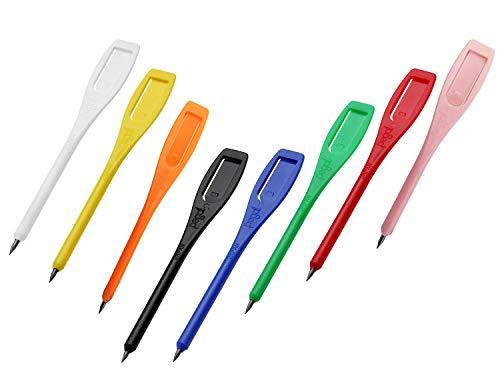 ライト(LITE) クリップペンシル ペグシル 1,000本 カラー8色 (ブルー)