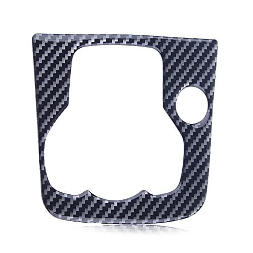 HAIQING Piano Sea Centro Interno Consola Multimedia Panel Interruptor de Interruptor de Interruptor de Fibra de Carbono Etiqueta engomada Negra de Fibra de Carbono FIT FOR Mazda 3 AXELA 2013-2016