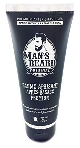 Man s beard - Baume Apaisant Après-Rasage Premium 100 Ml Actif Réparateur Après Rasage Soulage Et Répare Les Irritations Quotidiennes