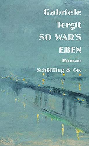 Buchseite und Rezensionen zu 'So war's eben: Roman' von  Gabriele Tergit