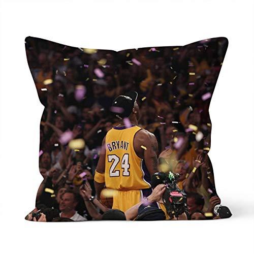 Funda de cojín decorativa de la NBA Kobe Bryant con diseño de estrella de la NBA, para coche, dormitorio, 40 x 40 cm