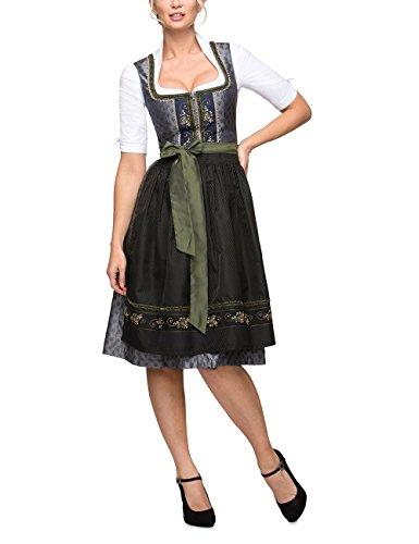 Stockerpoint Damen Isabelle Dirndl,, per pack Mehrfarbig (schiefer-midnight schiefer-midnight), 40 (Herstellergröße: 40)