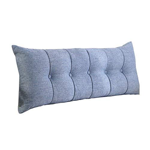 DX Gepolstertes Kopfteil, doppelter Kissenbezug, Schreibtisch für den häuslichen Gebrauch, Bettruhe und Kissen waschbar 5, 6 Größen (Farbe: blau, Größe: 80 cm) zur Unte