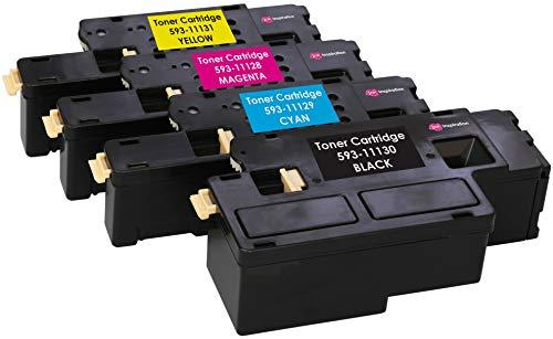 4er Set Premium Toner kompatibel für Dell C1660, C1660W, C1660DW, C1660CN, C1660CNW   Schwarz 1.250 Seiten & Color je 1.000 Seiten